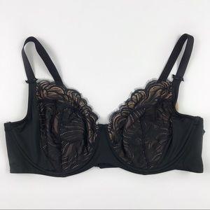 Ava /& Viv plus size racerback bra size 3X NWT Black lace underwire free